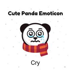 Panda bear crying a panda bear weeps vector