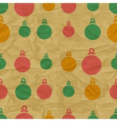Retro Christmas Bauble Pattern vector image