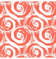 Seamless pattern with bold swirling brush strokes vector
