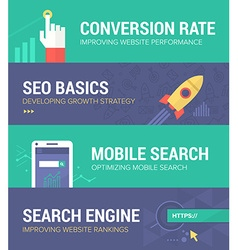 Seo Banners vector image