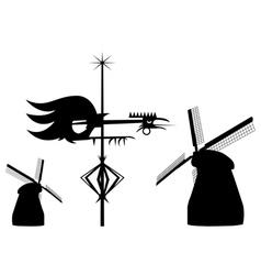 Wind vanes vector