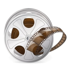Reel of movie tape vector