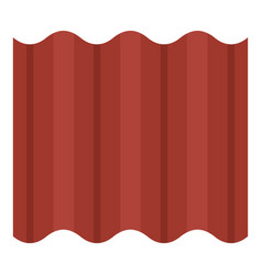 Steel colored goffered plate for roof icon vector