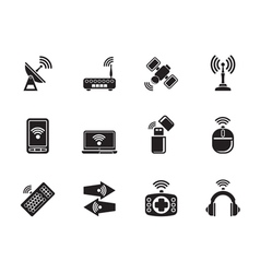 Silhouette wireless and communication technology vector