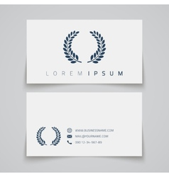 Business card template laurel concept logo vector