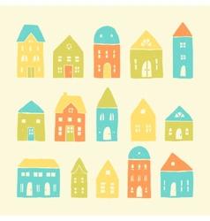 Colorful cartoon houses vector