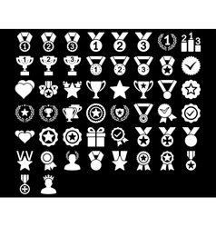 Competition and awards icons vector