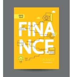 Modern infographic of finance concept vector