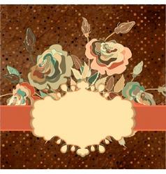 Vintage Floral Rose Card vector image
