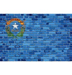 Flag of nevada on a brick wall vector