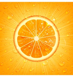 Orange background with water drops vector