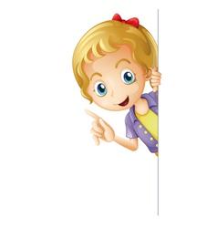 a girl vector image vector image