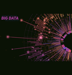 Abstract round big data vector