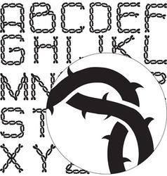 alphabet thorny vector image