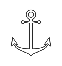 anchor silhouette sea design vector image