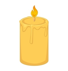 Aromatic candle icon cartoon style vector