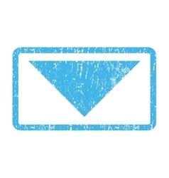 Arrowhead down icon rubber stamp vector