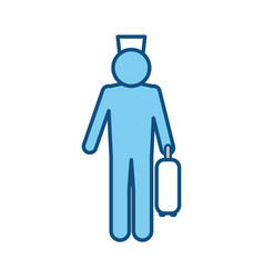 Bell boy pictogram vector