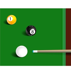 Billiards sport game background vector image vector image