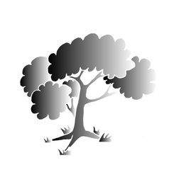 Black tree style vector image vector image