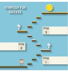 Business like a game on blue strategy for sucess vector