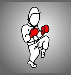 businessman wearing red boxing gloves fighting vector image vector image