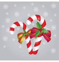 Candy canes background2 vector image