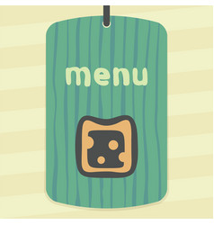 cheese sandwich icon modern infographic logo vector image vector image
