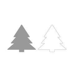Christmas tree the grey set icon vector