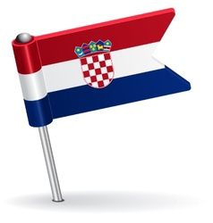 Croatian pin icon flag vector