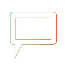 Dialogue box icon with tail and frame in degraded vector