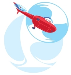 flat helicopter fly vector image