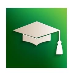 Graduation cap sign vector
