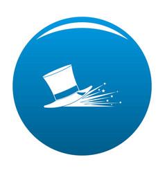 magic hat icon blue vector image