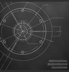 Mechanical engineering drawings engineering black vector