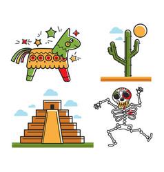 Mexican national symbols vector