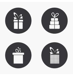 modern gift icons set vector image