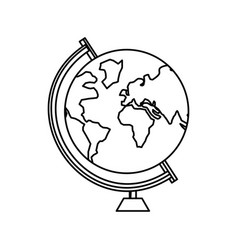 School world globe vector