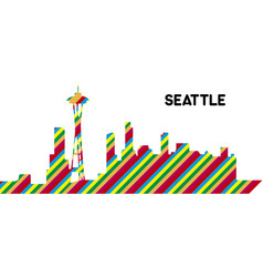 skyline of seattle vector image vector image