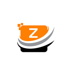 technology motion synergy initial z vector image vector image