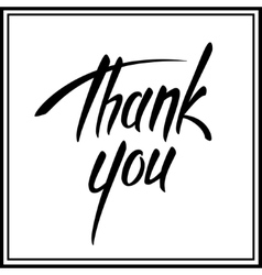 Thank you lettering card vector image vector image
