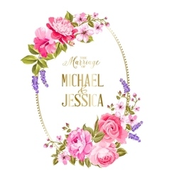 The marriage card vector image