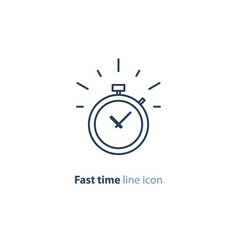 Time limit concept fast delivery services linear vector
