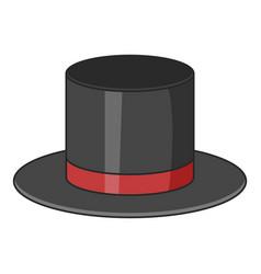 Top hat icon cartoon style vector