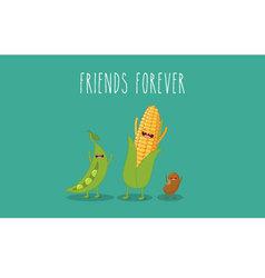 Vegetables corn vector