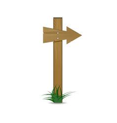 wooden arrow cartoon sign vector image vector image