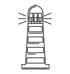 Lighthouse tower guide icon vector