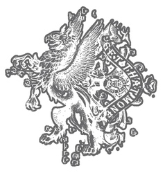 Griffin eagle crest emblem vector