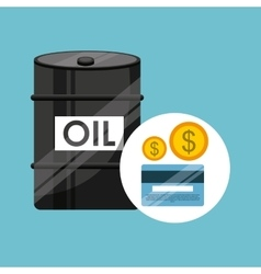 Barrel oil concept banking dollar vector