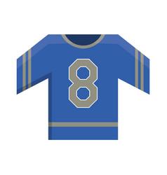 blue jersey american football uniform element vector image